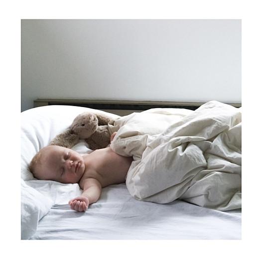 Faire-part de naissance Original 3 photos (triptyque) blanc