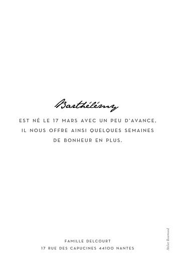 Faire-part de naissance Un joli mot portrait blanc - Page 2