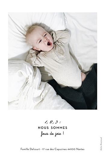 Faire-part de naissance Original 2 photos portrait blanc - Page 2
