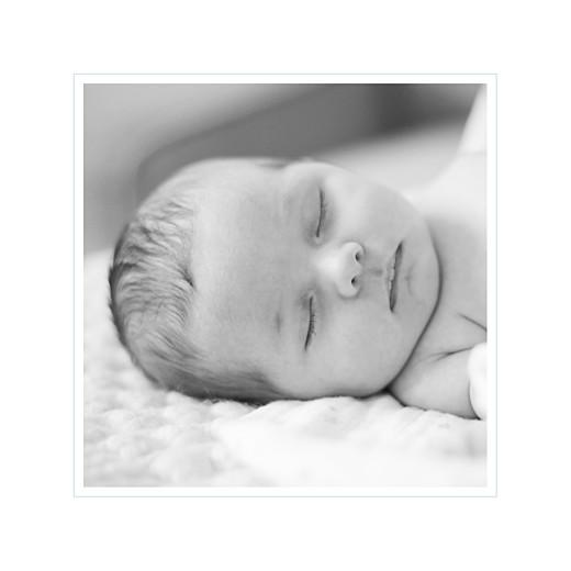 Faire-part de naissance Comptine photo 4 pages bleu