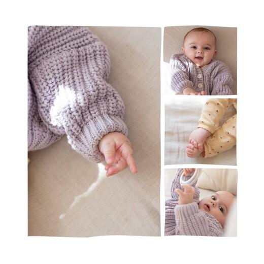 Faire-part de naissance Ruban de fleurs 5 photos rose - Page 2