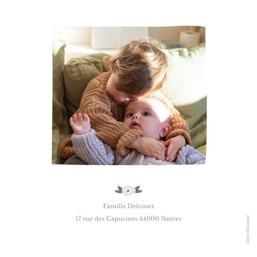 Faire-part de naissance Ruban de fleurs 5 photos rose - Page 4