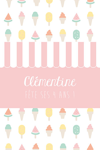Carte d'anniversaire Ice cream photo rose - Page 1