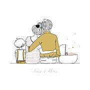 Faire-part de naissance Lovely family 2 enfants 3photos fille frère page 1