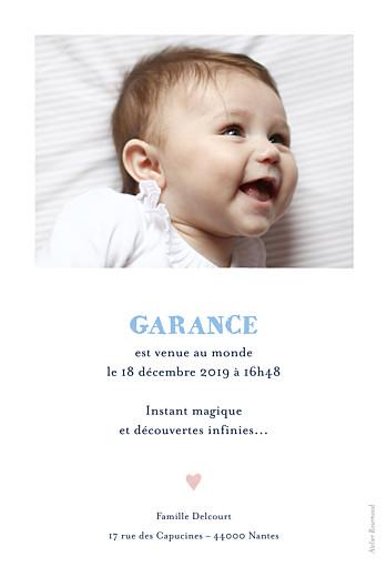 Faire-part de naissance Ours polaire 1 photo portrait bleu - Page 2