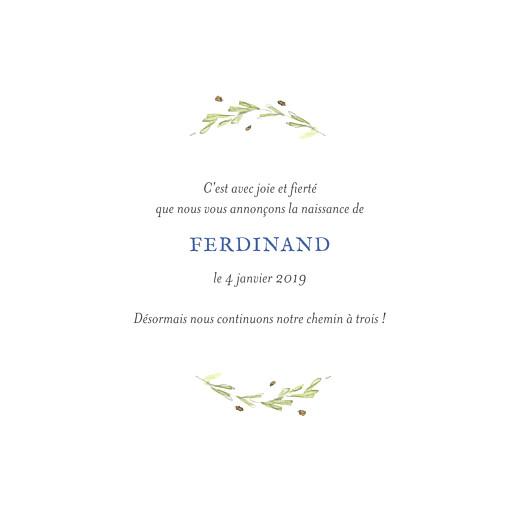 Faire-part de naissance Renard aquarelle photo bleu - Page 3