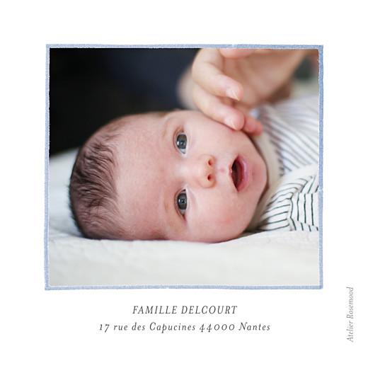 Carte de remerciement Petit renard aquarelle photo bleu - Page 2
