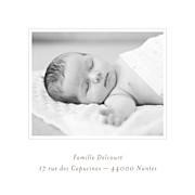 Faire-part de naissance Comptine 4 photos triptyque bleu page 5