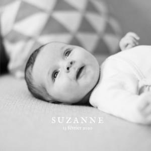 Faire-part de naissance Ma perle 3 photos (dorure) blanc