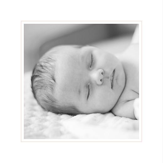 Faire-part de naissance Comptine photo 4 pages (dorure) rose