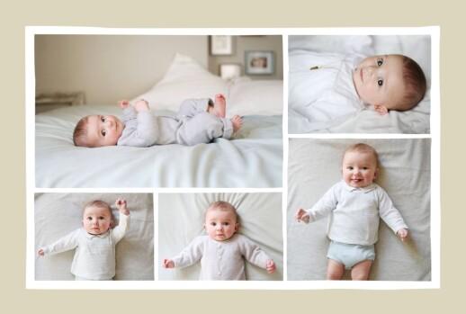 Faire-part de naissance Renard 5 photos 4p  beige & orange - Page 2