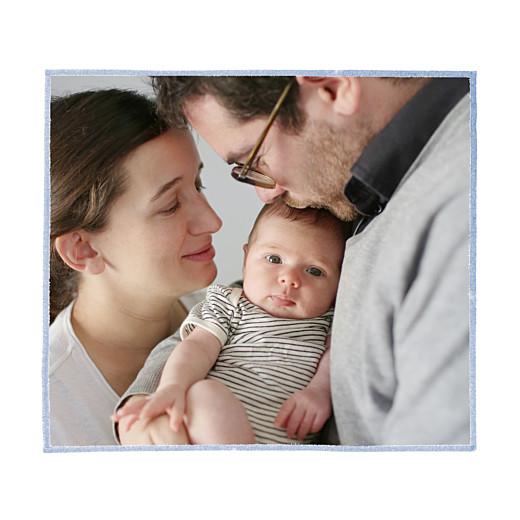 Faire-part de naissance Renard aquarelle photo bleu