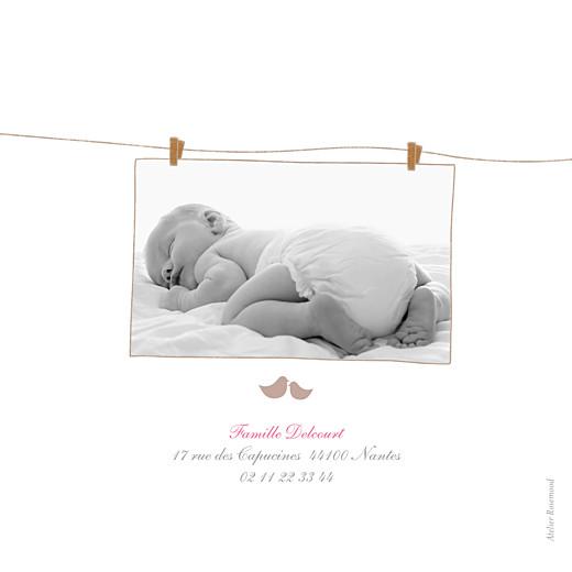 Faire-part de naissance Poétique 4 photos rose - Page 4