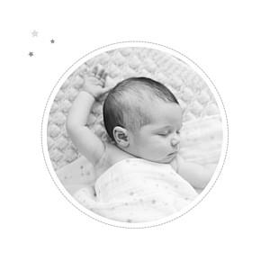 Faire-part de naissance Dans le ciel photo gris