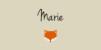 Marque-place Baptême Renard beige - Page 1