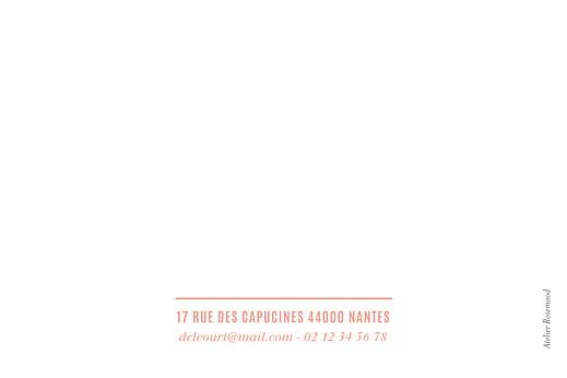 Carte de correspondance Trait contemporain corail - Page 2
