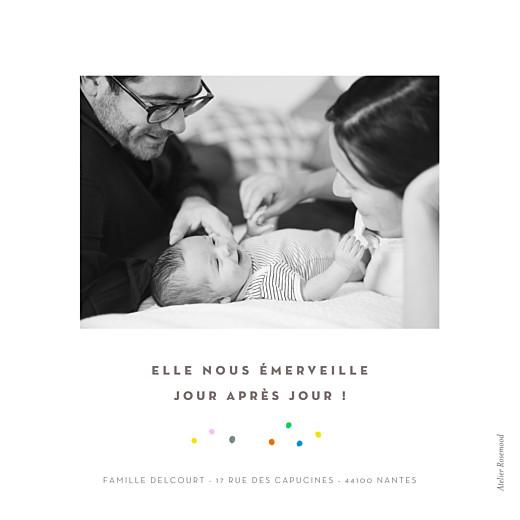 Faire-part de naissance Happy 3 photos blanc - Page 4