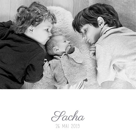 Faire-part de naissance Ruban étoilé (dorure) gris