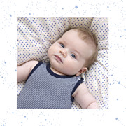 Faire-part de naissance Univers 4 photos (triptyque) bleu page 4