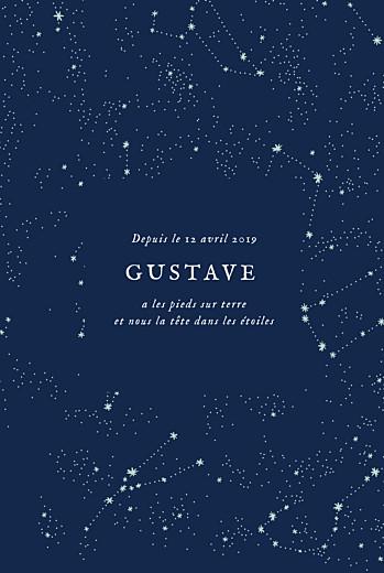 Faire-part de naissance Univers photo rv bleu nuit