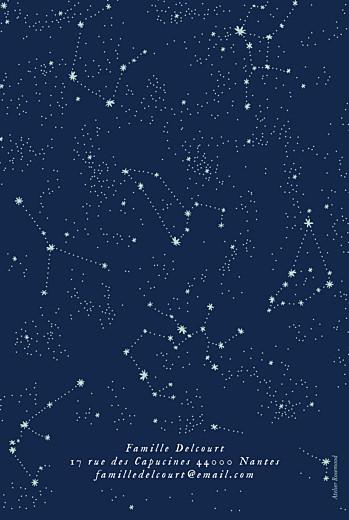 Faire-part de naissance Univers 3 photos bleu nuit - Page 4
