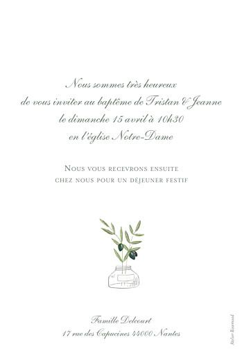 Faire-part de baptême Olivier blanc - Page 2