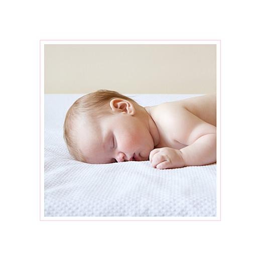 Faire-part de naissance Classique liseré 1 photo rv rose layette
