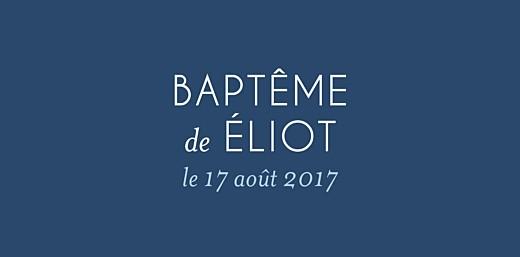 Marque-place Baptême Petite église bleu