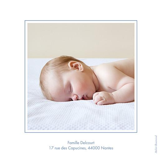 Faire-part de naissance Classique liseré bilingue bleu wedgwood