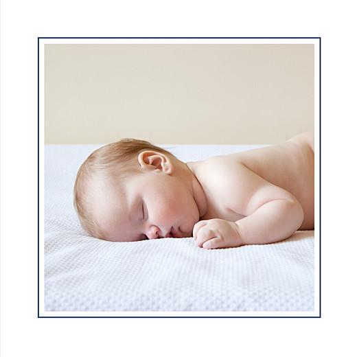 Faire-part de naissance Classique liseré (triptyque) bleu nuit - Page 2