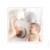 Faire-part de naissance Classique liseré jumeaux photos rose grenadine