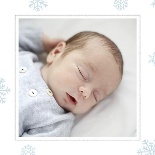 Faire-part de naissance Premiers flocons (triptyque) bleu clair - Page 4
