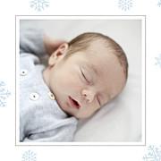 Faire-part de naissance Premiers flocons (triptyque) bleu clair page 4