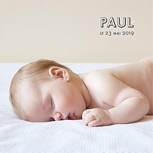 Faire-part de naissance blanc the photo ! (carrée) blanc