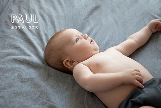 Faire-part de naissance The photo ! blanc