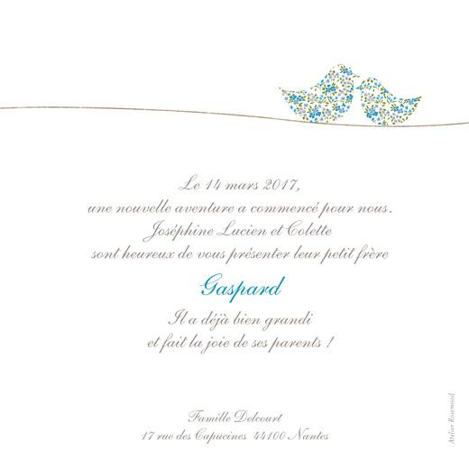 Faire-part de naissance Poétique photo bleu - Page 2