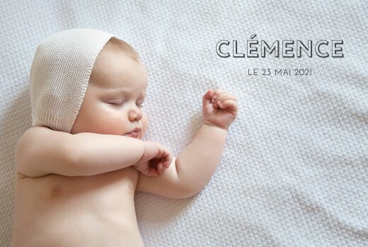 Faire-part de naissance The photo ! paysage (4 pages) blanc