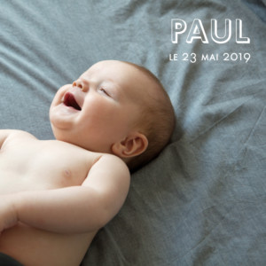 Faire-part de naissance Mini the photos ! (triptyque) blanc