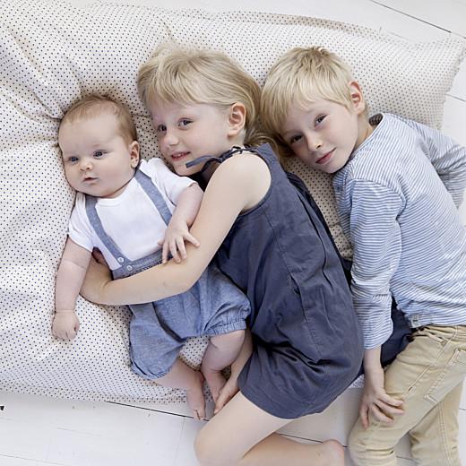 Faire-part de naissance Mini the photos ! (triptyque) blanc