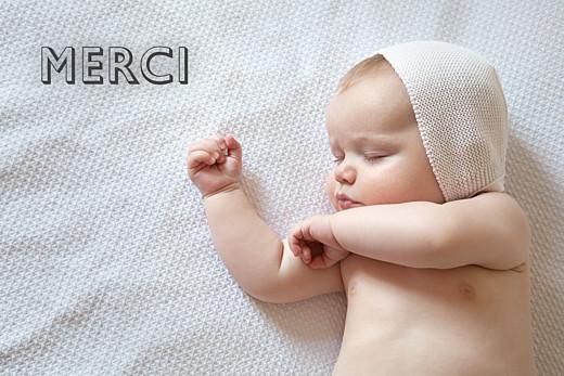 Carte de remerciement Mini the photo paysage blanc