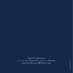 Faire-part de naissance Univers 4 photos (dorure) bleu nuit