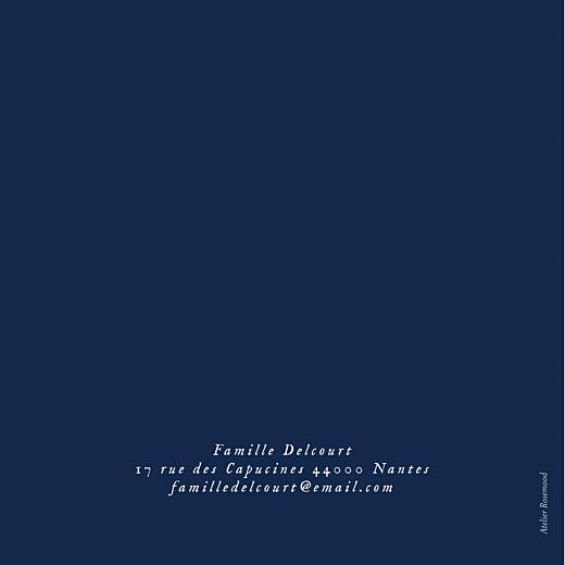 Faire-part de naissance Univers 4 photos (dorure) bleu nuit - Page 4