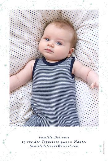 Faire-part de naissance Univers photo rv (dorure) bleu nuit - Page 2