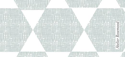Etiquette de baptême Toile de lin bleu