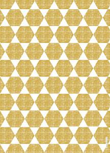 Livret de messe Toile de lin jaune