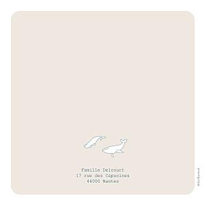 Faire-part de naissance Baleine extraordinaire beige