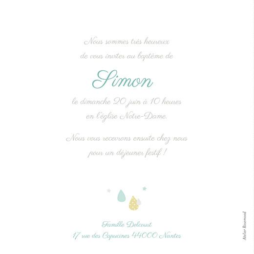 Faire-part de baptême Tombe la pluie bleu - Page 2