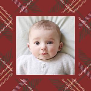 Carte de remerciement tradition petit tissu écossais photo rouge