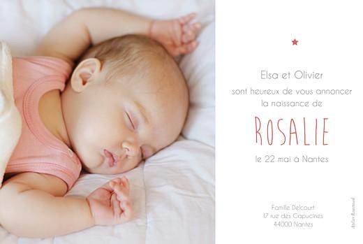 Faire-part de naissance Lovely girl photo (dorure) blanc - Page 2
