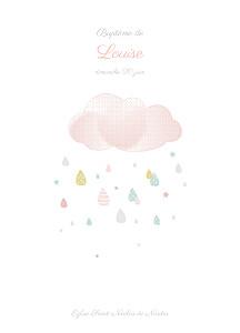 Livret de messe mixte tombe la pluie rose